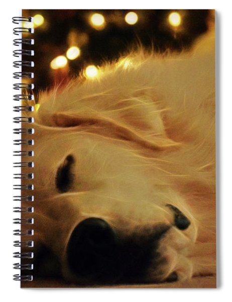 Spiral Notebook featuring the photograph Waiting For Santa by Patti Whitten