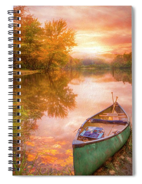 Waiting For The Dawn In Peach Spiral Notebook