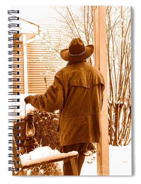 Waiting For The Storm - Sepia Spiral Notebook