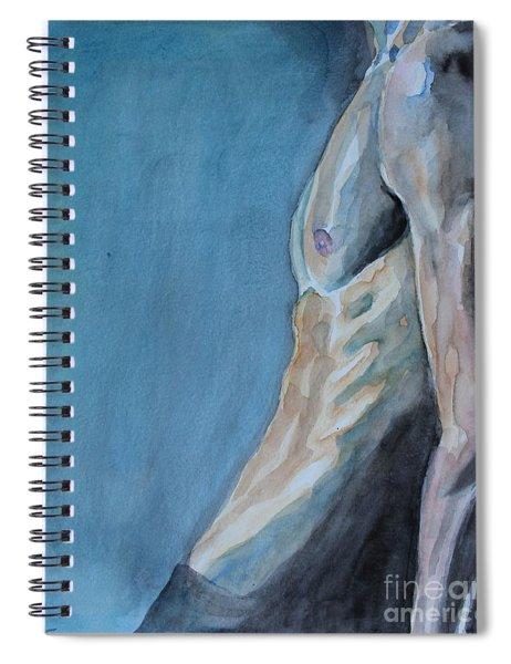 Waiting Man Spiral Notebook