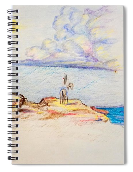 Waiting Upon The Storm Spiral Notebook