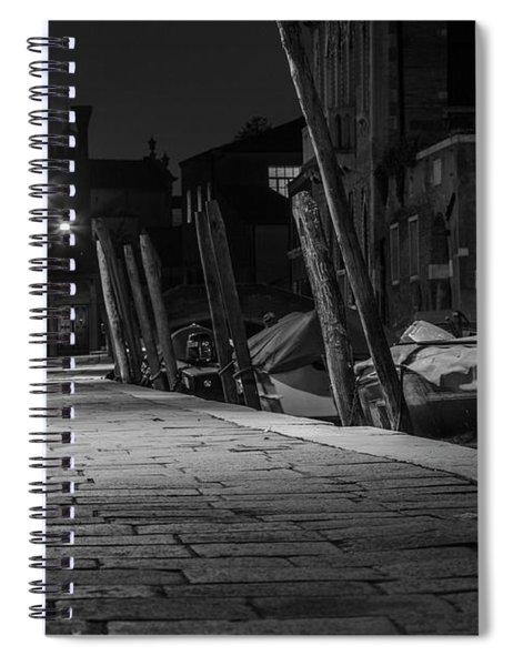 Walk Along The Canal In Venice  Spiral Notebook