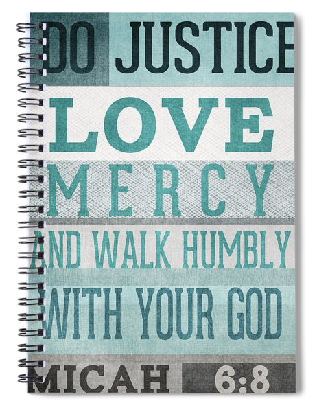 Walk Humbly- Micah  Spiral Notebook