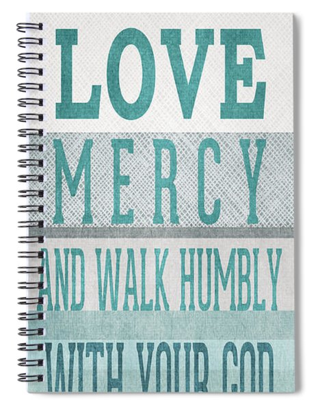 Walk Humbly- Tall Version Spiral Notebook