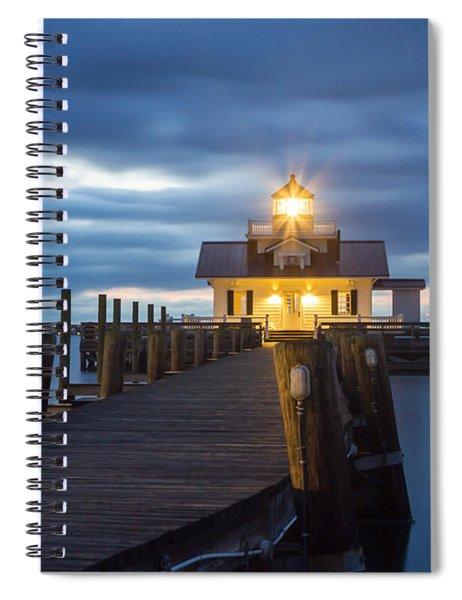Walk To Roanoke Marshes Lighthouse Spiral Notebook