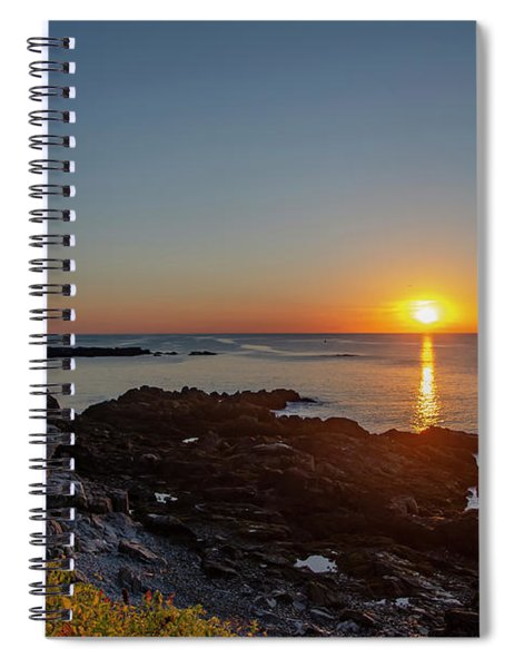 Walkers Point - Sunrise In Kennebunkport Maine Spiral Notebook