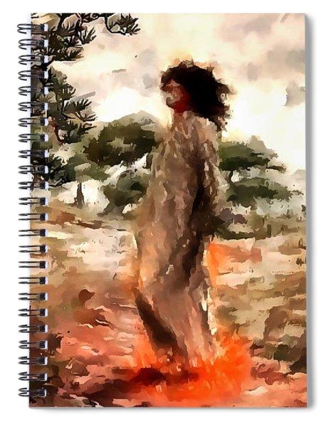 Walking Across Coals Spiral Notebook