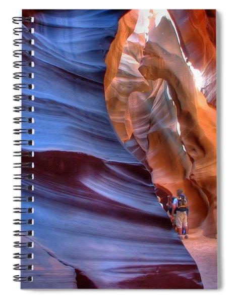 Walking In Antelope Canyon Spiral Notebook