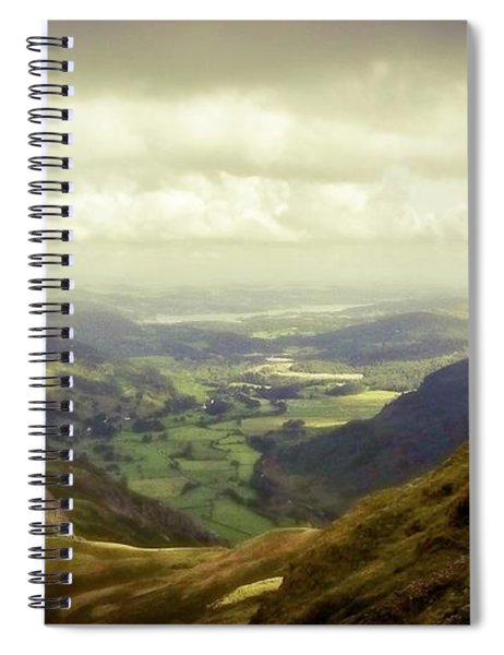 Walking In The Mountains, Lake District, Spiral Notebook