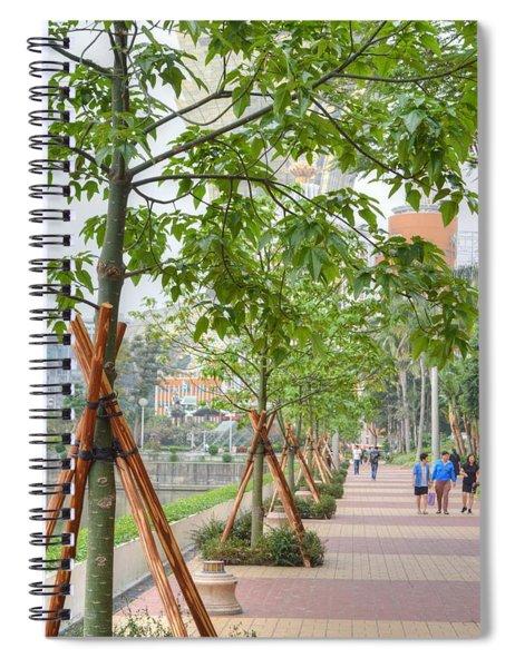 Walking Macau China Spiral Notebook