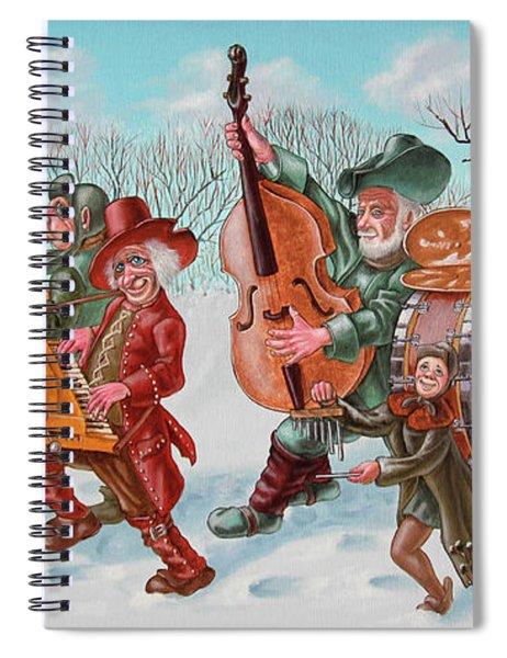 Walking Musicians Spiral Notebook
