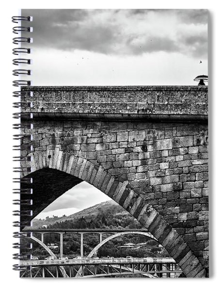 Walking On The Roman Bridge Spiral Notebook