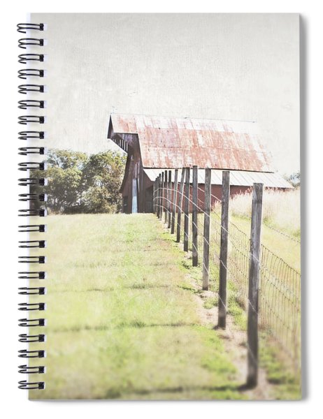 Walking The Straight Line Spiral Notebook