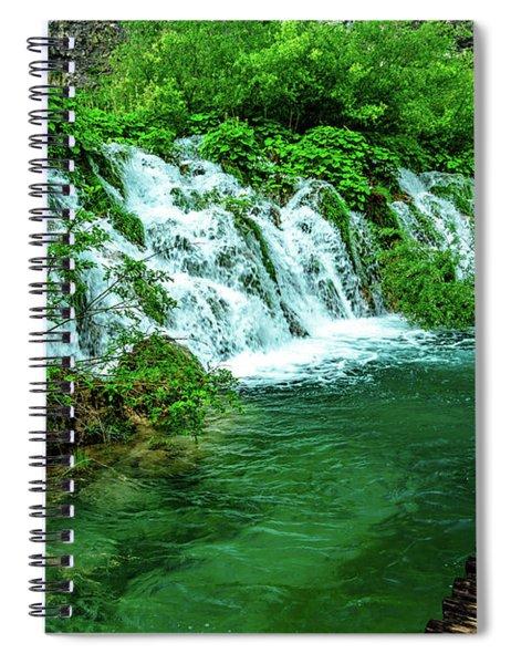 Walking Through Waterfalls - Plitvice Lakes National Park, Croatia Spiral Notebook