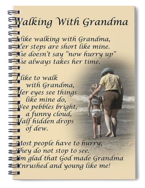 Walking With Grandma Spiral Notebook