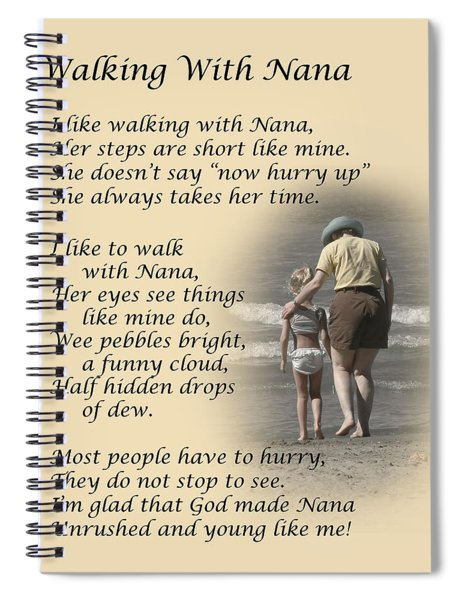 Walking With Nana Spiral Notebook