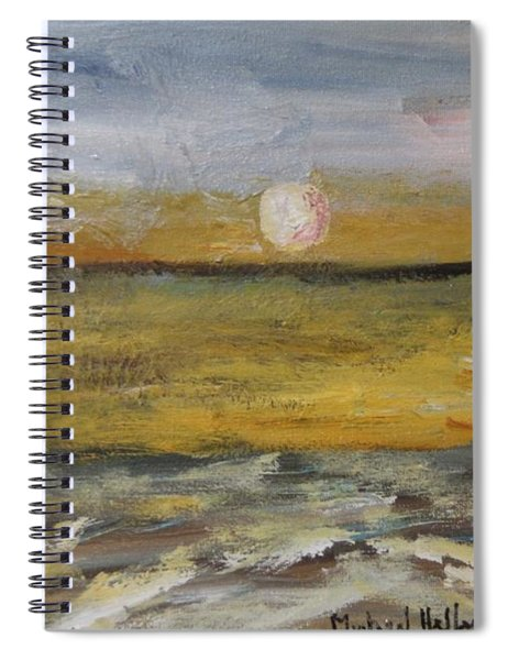 Walking With The Moon Spiral Notebook