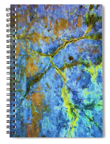 Wall Abstraction I Spiral Notebook