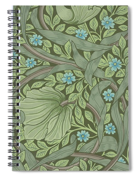 Wallpaper Sample With Forget-me-nots Spiral Notebook