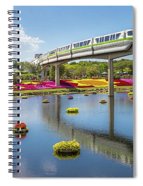 Spiral Notebook featuring the photograph Walt Disney World Epcot Flower Festival by Robert Bellomy