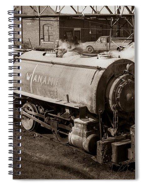 Wanamie Pennsylvania Coal Mine Locomotive Lokey 1969... Spiral Notebook