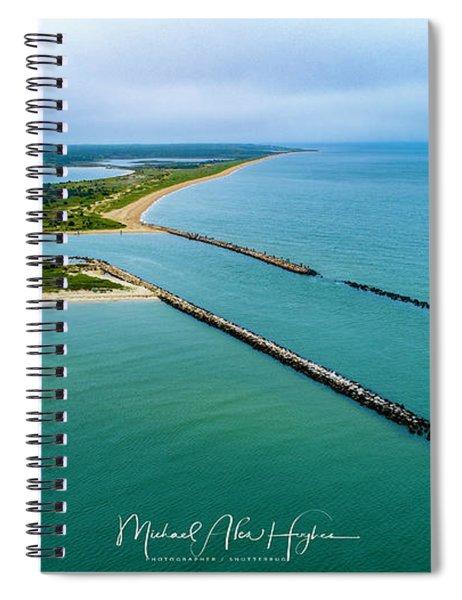 Waquiot Bay Breakwater Spiral Notebook