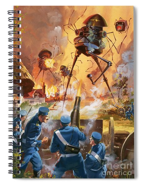 War Of The Worlds Spiral Notebook