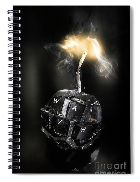 War On Information Spiral Notebook