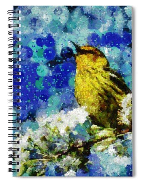 Warbler Of Spring Spiral Notebook