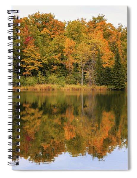 Warm Autumn Reflections Spiral Notebook