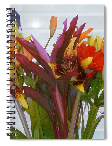Warm Colored Flowers Spiral Notebook