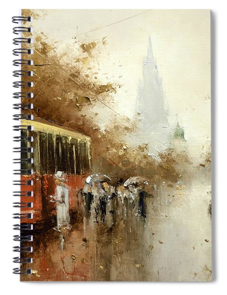 Warm Moscow Autumn Of 1953 Spiral Notebook