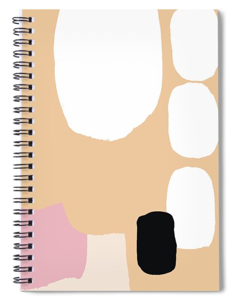 Warm Pastel Abstract Spiral Notebook