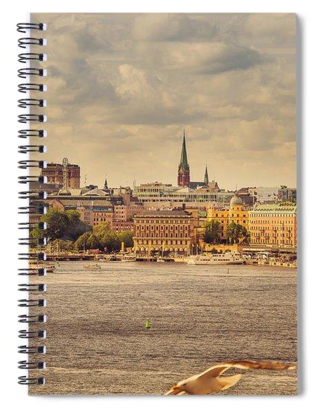 Warm Stockholm View Spiral Notebook