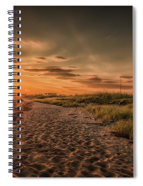 Warm Sunrise At The Fire Island Lighthouse Spiral Notebook