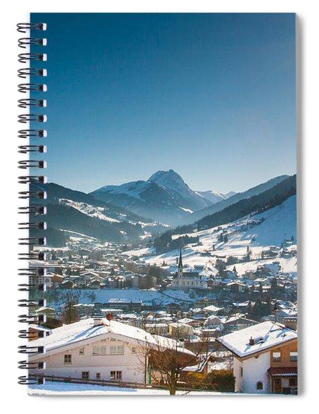 Warm Winter Day In Kirchberg Town Of Austria Spiral Notebook