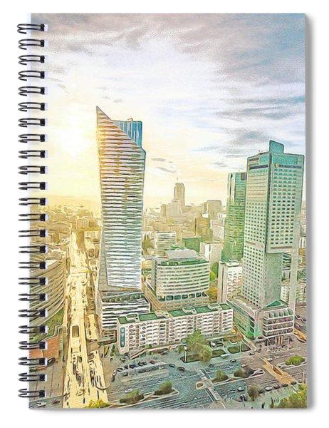 Warsaw Poland Skyline Spiral Notebook