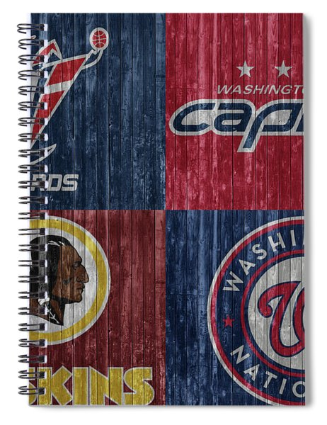 Washington Dc Sports Teams Spiral Notebook