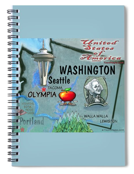 Washington Fun Map Spiral Notebook