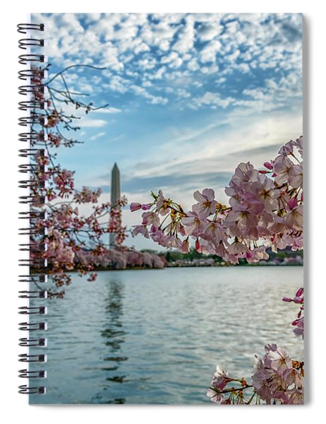 Washington Monument Through Cherry Blossoms Spiral Notebook