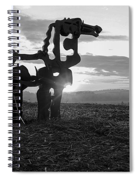 Watchful The Iron Horse  Spiral Notebook