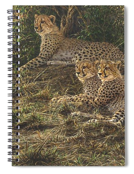 Spiral Notebook featuring the painting Watching Mam by Alan M Hunt