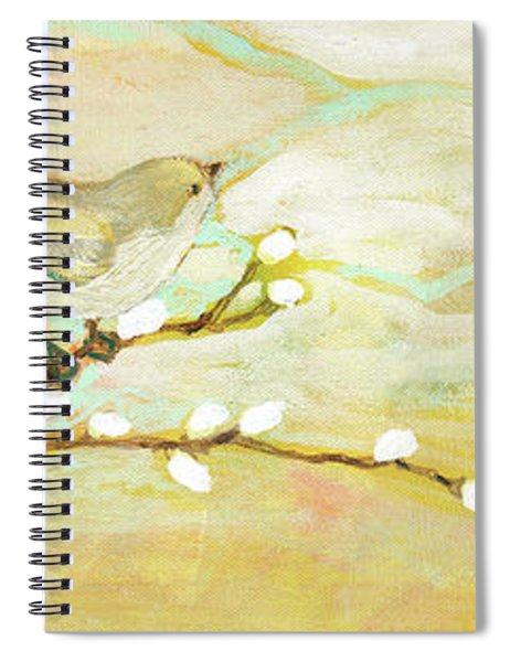 Watching The Clouds No 3 Spiral Notebook by Jennifer Lommers