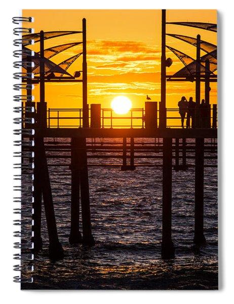 Watching The Sunset Spiral Notebook