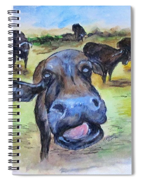 Water Buffalo Kiss Spiral Notebook