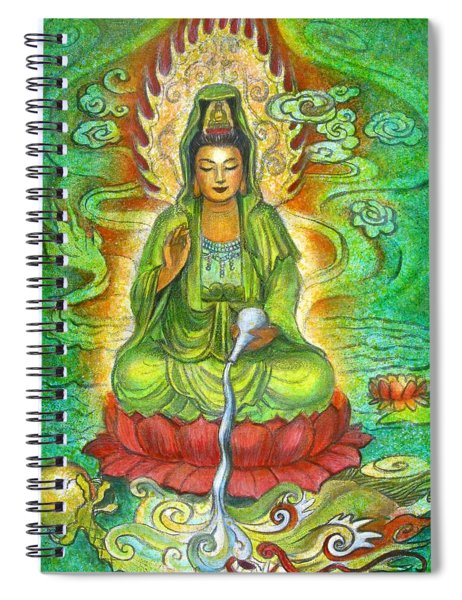 Water Dragon Kuan Yin Spiral Notebook