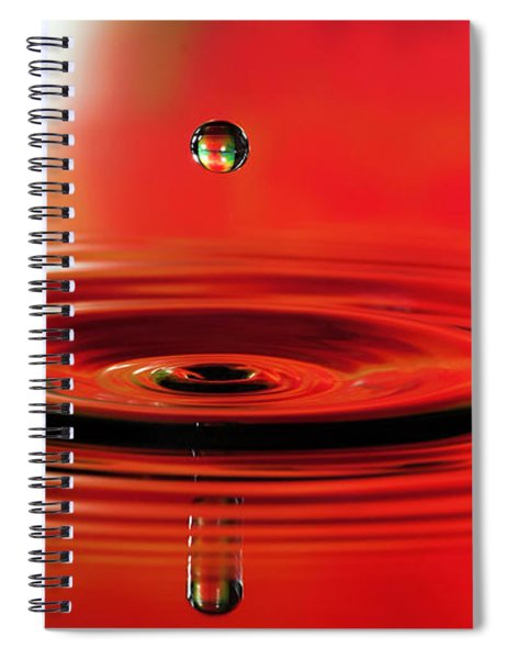 Water Droplet Stop Action Spiral Notebook