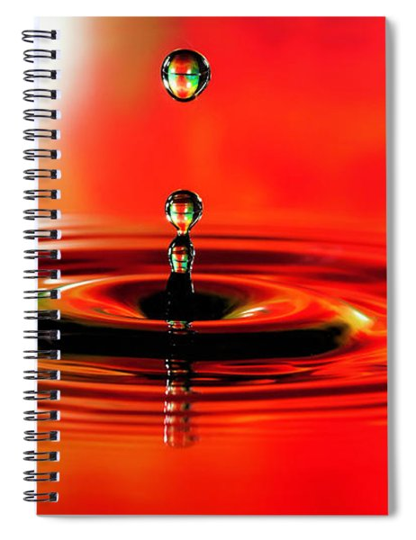 Water Droplets Stop Action Spiral Notebook