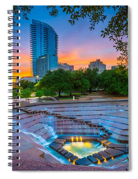 Water Gardens Sunset Spiral Notebook