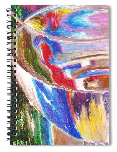 Water Glass Spiral Notebook